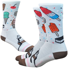 "DeFeet Aireator 6"" Chaussettes, iscream (white/brown/pink)"